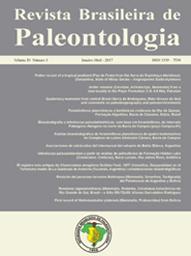 Capa da Revista Brasileira de Paleontologia